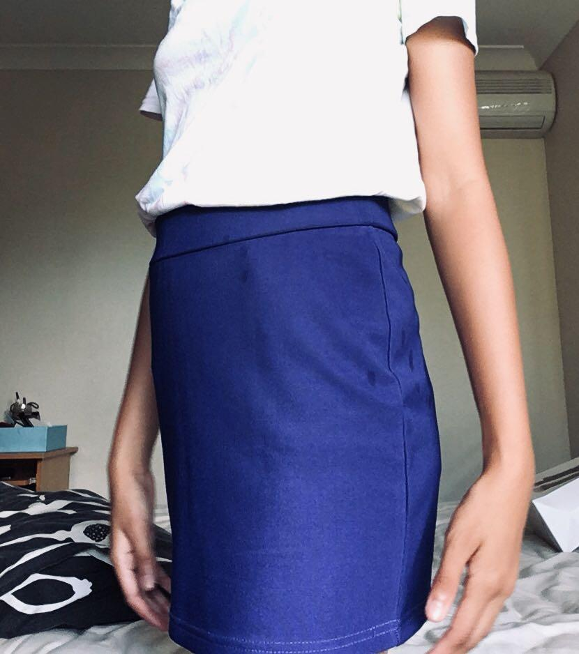 Temt Blue Pencil Skirt