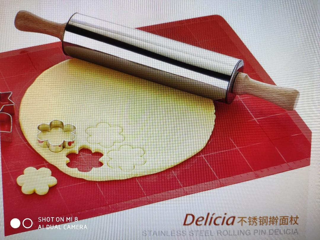 Tescoma Stainless Steel Rolling Pin Delicia