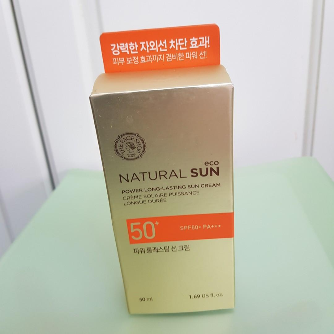 The face shop NATURAL SUN自然陽光持久防曬霜