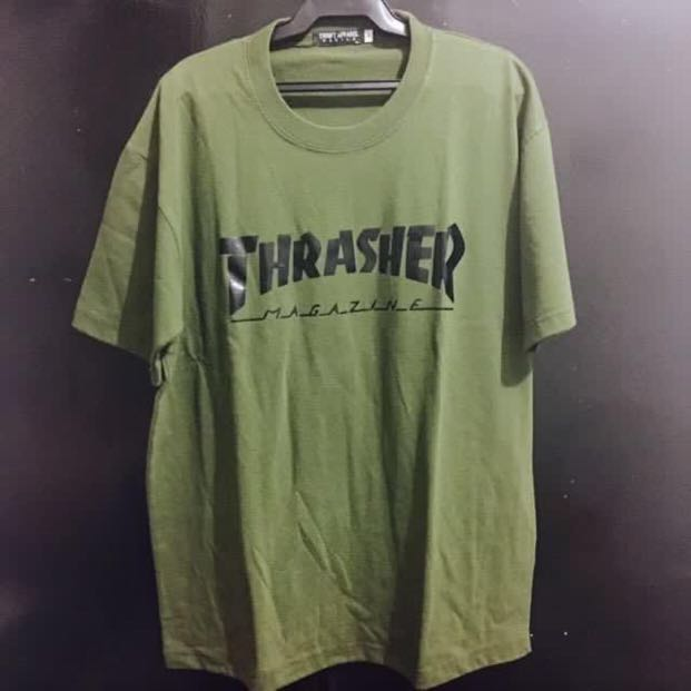 6a47916f87b8 Thrasher Olive Green Shirt Large, Men's Fashion, Clothes, Tops on ...