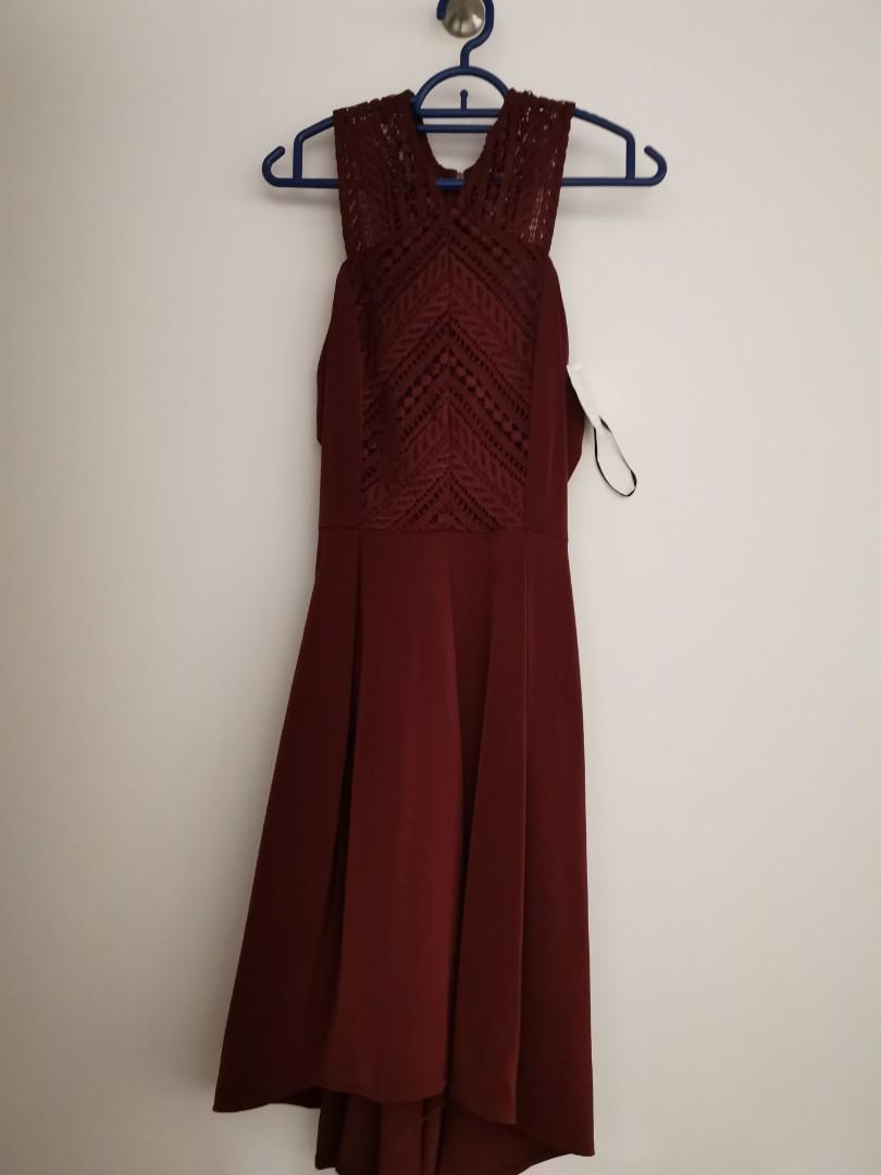36f12974446 Thread theory wine cross top dress