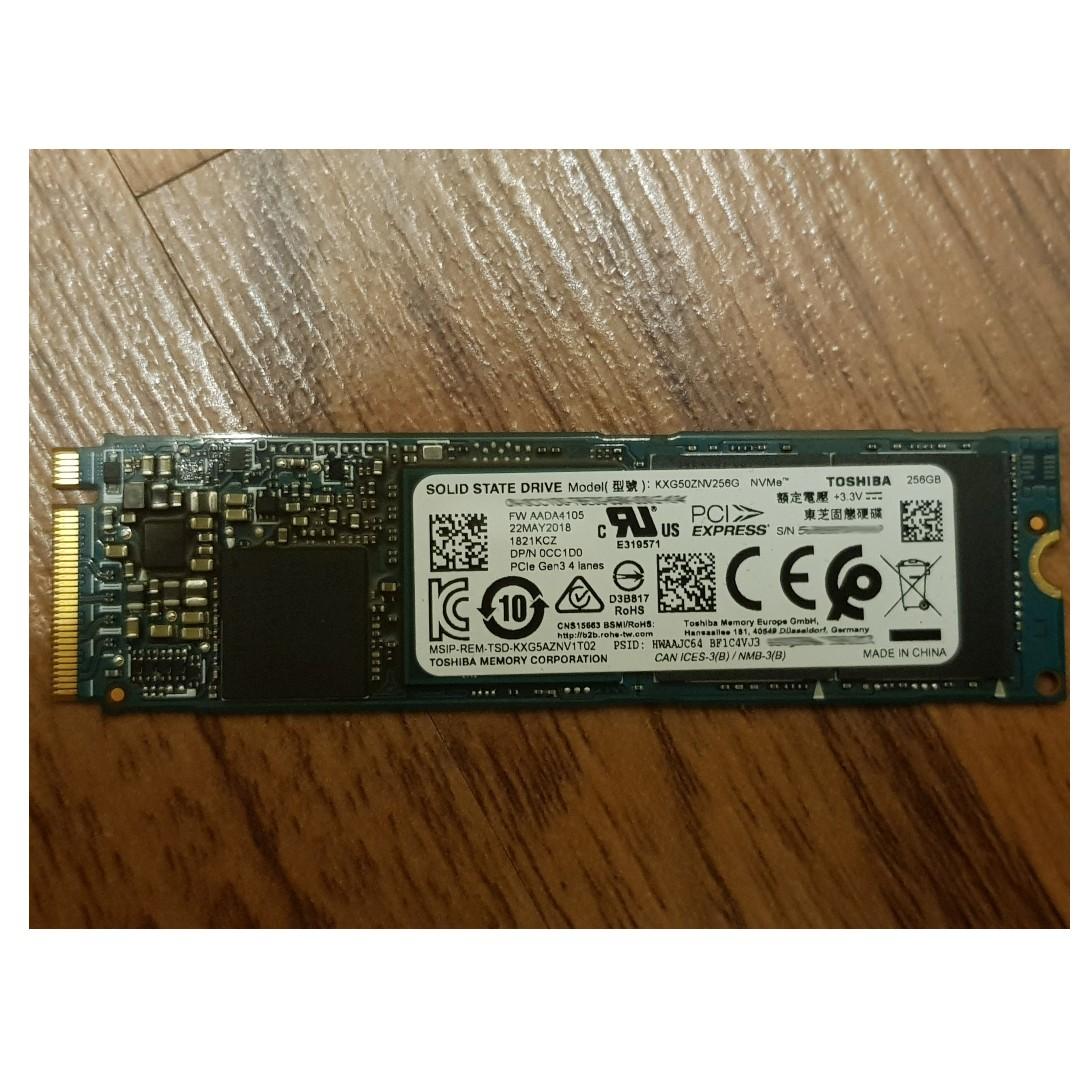 Toshiba XG5 NVMe PCIe M 2 256GB SSD KXG50ZNV256G