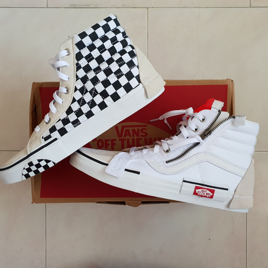 4990b0b6eec1ea US9 Vans Sk8-HI Reissue CAP Deconstructed True White High Cut ...