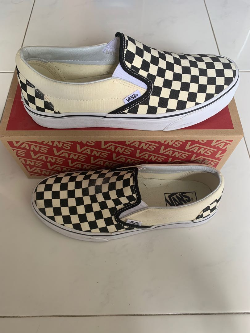 ca55fd378cd9b4 Vans Checkerboard Slip On  USED