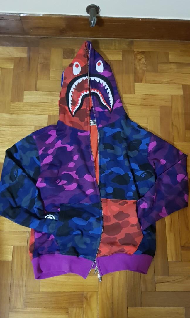 f26cb925c1eb WTT WTS Bape Shark hoodie colour camo fullzip crazy