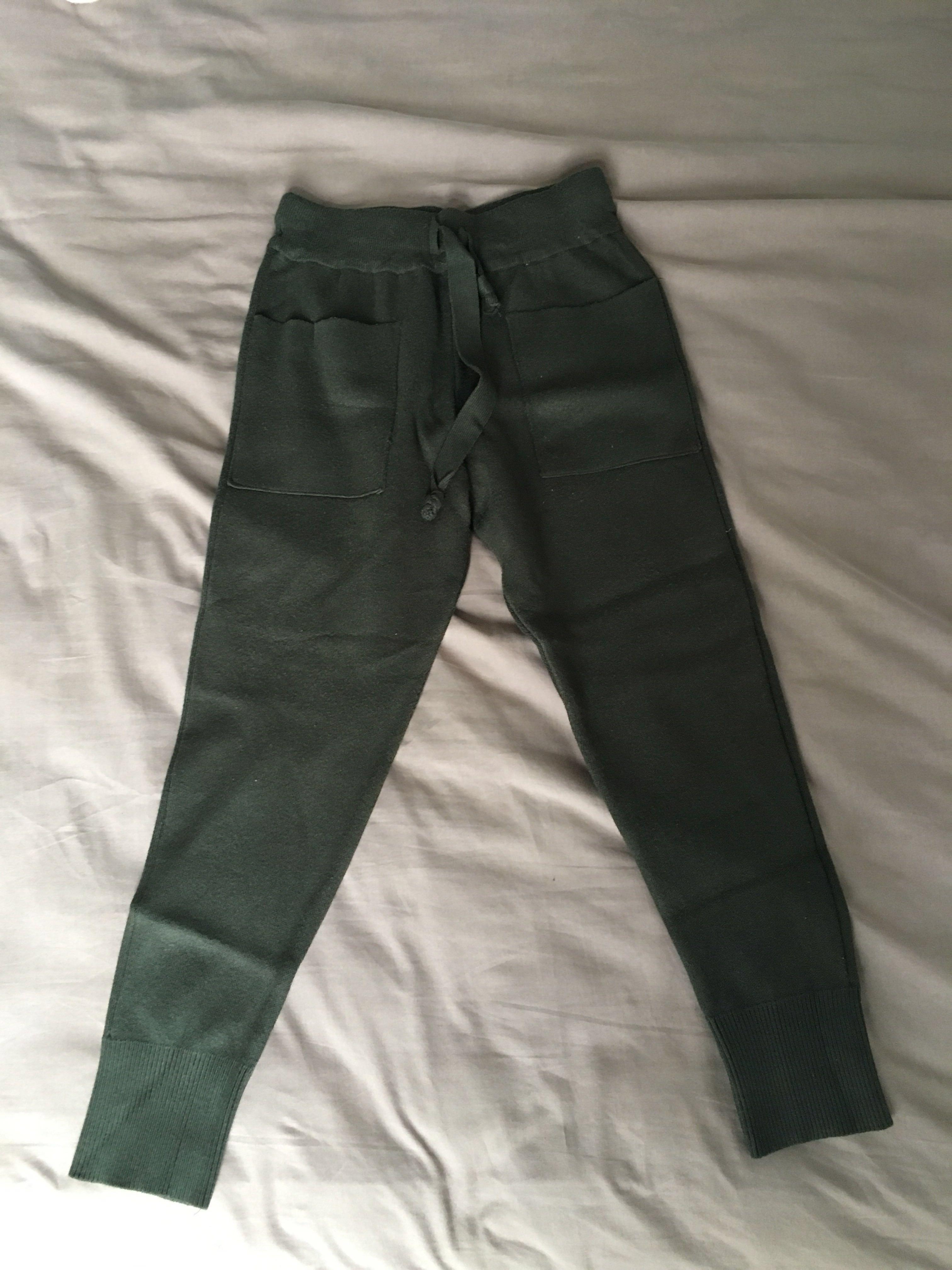 504f2312 Zara knit pants, Women's Fashion, Clothes, Pants, Jeans & Shorts on  Carousell
