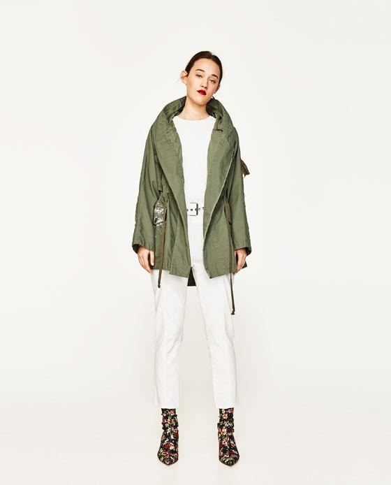"**PRICE DROPPED** Zara women's collection ""sparkling parka coat"""