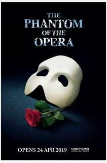 WTB 1-2 Phantom of the Opera tickets