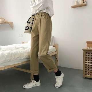 Ulzzang Khaki Pants / Cargo Pants