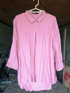Pink Button down long sleeve