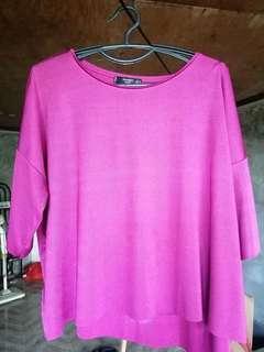 Mango Blouse Fuchsia Pink