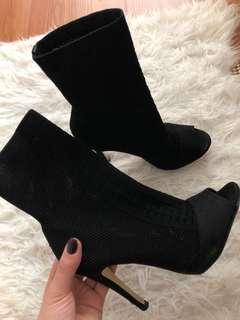 Open toe sock boots