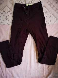 Bershka High Waist Ripped Jeans