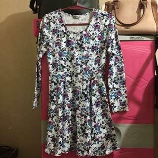A Line Skirt Dress Floral