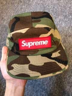 Supreme 五分割帽 迷彩