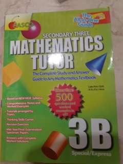 Sec 3 mathematics tutor 3B
