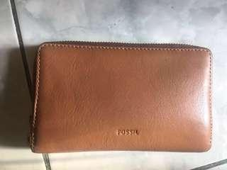 Wallet Fossil Emma Original Brown Colour