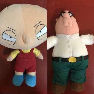 Family Guy Stewie and Pete Plush Toy