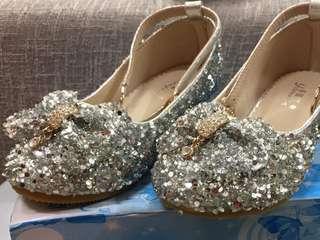 女童小童bing bing 閃閃珠片鞋 girl shoes Size 30 童裝鞋