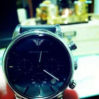 🚚 過年特價促銷,armani阿曼尼手錶 ar,1735 錶帶脫皮,不影響使用