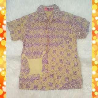 Purple Batik Shirt by Allure Kids