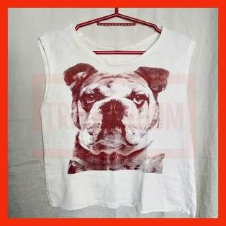 Printed Dog Sleeveless Top