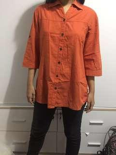basic shirt / kemeja / hem preloved