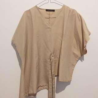 Shopataleen Cream Boxy Top