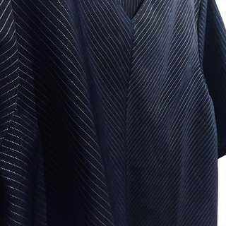 Navy Textured Boxy Top