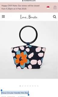 🚚 Love Bonito Alexa Circular Handle Mini Orange Bag