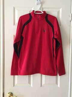 SPYDER MEN'S RED PULLOVER SIZE SMALL HALF ZIP WARM LONG SLEEVE SWEATER JACKET