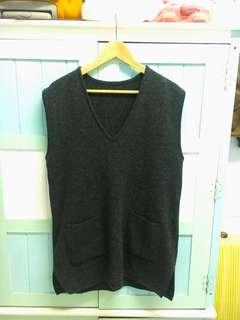 古著 日系簡約大毛衣背心 Vintage 一次購買兩件9折三件85折