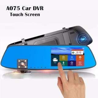 Touchscreen DashCam w/ rear cam