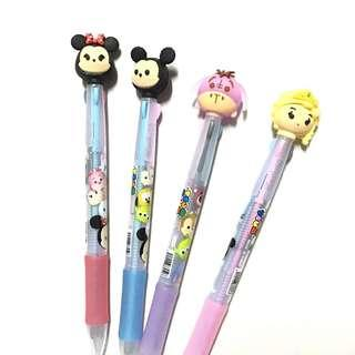 Sale! Tsum Tsum Elsa Mickey Minnie Eeyore multicolored clicker Pens