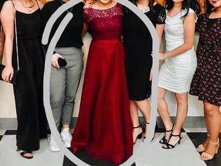 FOR RENT ELEGANT MAROON LONG GOWN PROM