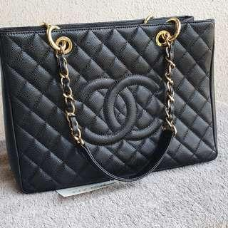 Chanel GST Caviar black ghw