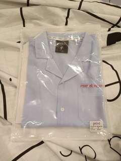 WTS Prive Baekhyun Blue Retro Date Shirt