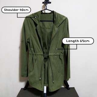 🚚 Army Green Hoodie Outerwear