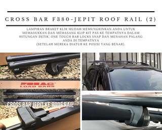 Cross bar f380 - jepit roofrail (2)