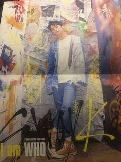 WTT/WTS STRAY KIDS LEE KNOW LYRICS POSTER I AM WHO ALBUM