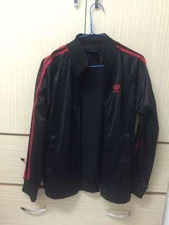 愛迪達adidas三葉草logo外套-黑