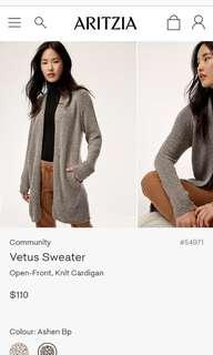 ARITIZIA COMMUNITY CARDIGAN GREY