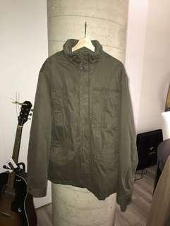 H&M Mens Army Green XL Zip Up Jacket $40