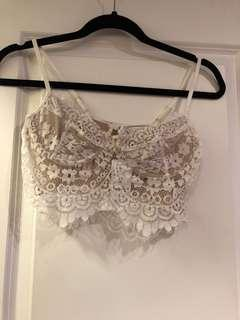 Laced cropped top