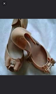 Anna Nucci Beige Jelly Wedges Shoe (pre loved)