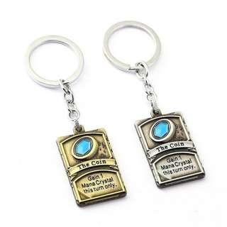 HEARTHSTONE COIN KEYCHAIN KEY CHAIN PACK BOOK HEARTHSTONE