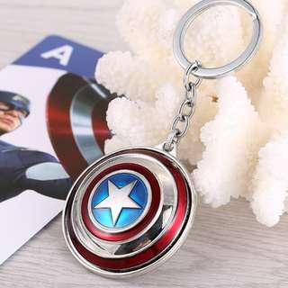 CAPTAIN AMERICA SHIELD MARVEL AMERICAN KEY CHAIN KEYCHAIN DC SPIDERMAN BATMAN HULK THOR IRON MAN