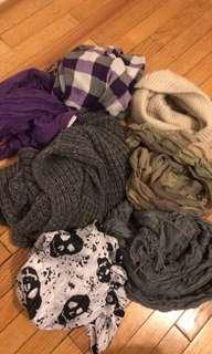 All 7 scarves for $15