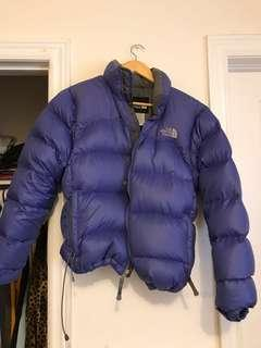 Blue North Face Puffer Jacket
