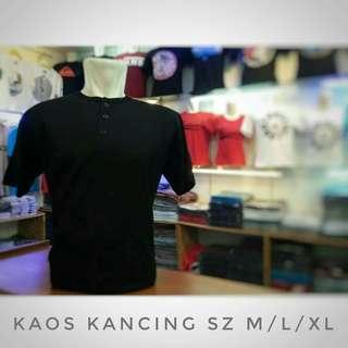 Kaos Polos Kancing Premium Bandung